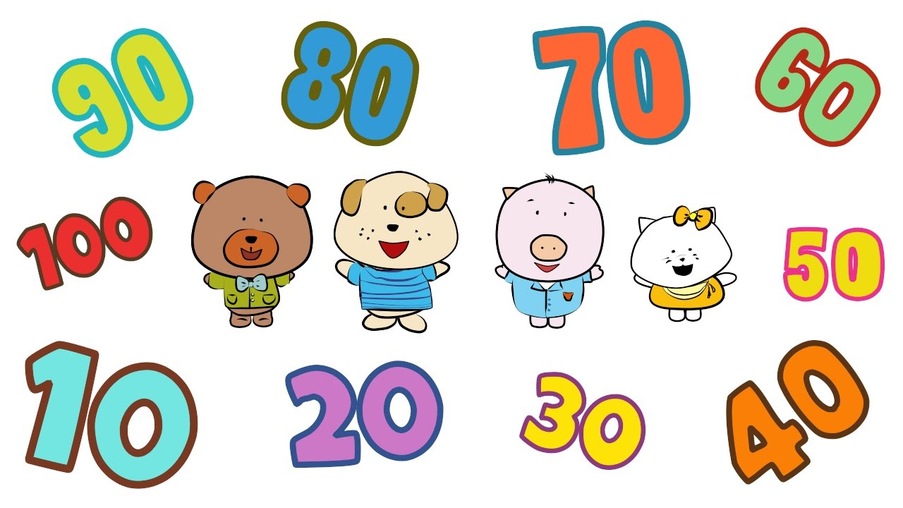 100 clipart number 100. Count by song the