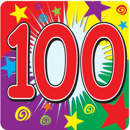 100 clipart one hundred. The word thoughts blog