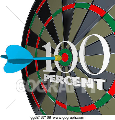 Drawing percent words dart. 100 clipart one hundred