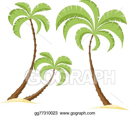 100 clipart palm tree. Vector art isolated on