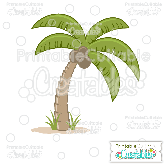 Tropical free svg cut. 100 clipart palm tree