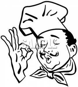 100 clipart perfect. Black and white chef