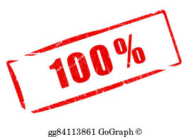 Drawings percent stamp total. 100 clipart perfect