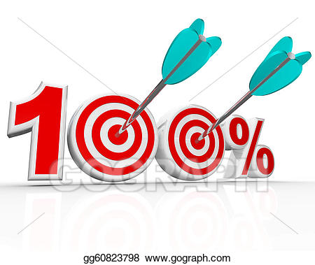 100 clipart perfect. Stock illustration percent arrows