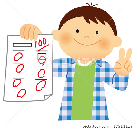 100 clipart perfect score.  points stock illustration