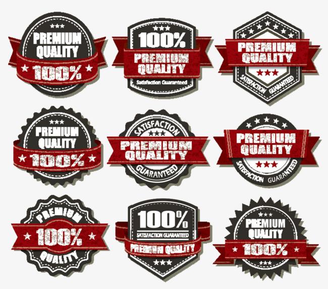 guarantee label assurance. 100 clipart quality