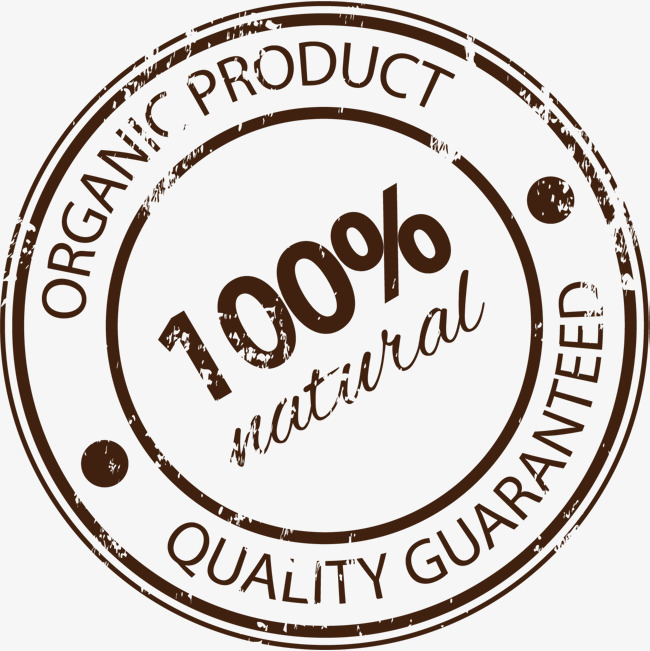 100 clipart quality. Brown product label pure