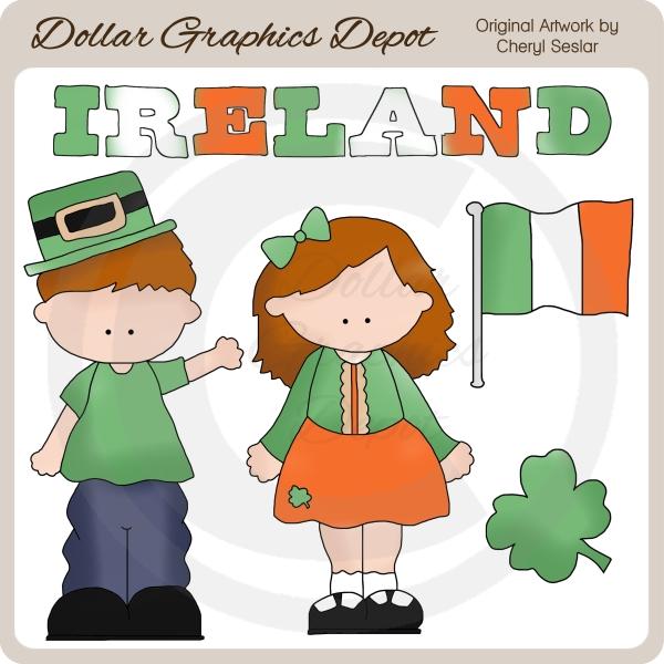 Ireland irish kids clip. 100 clipart quality