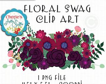 100 clipart swag. Floral clip art digital