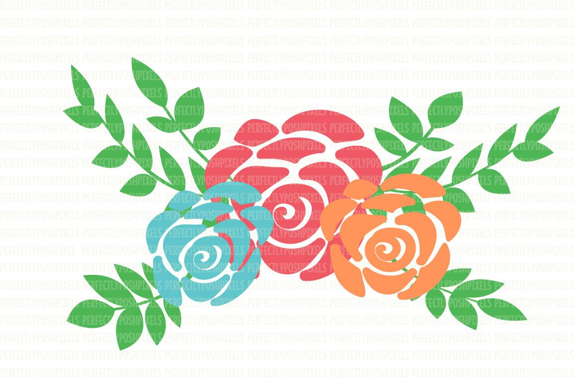 Svg files floral silhouette. 100 clipart swag