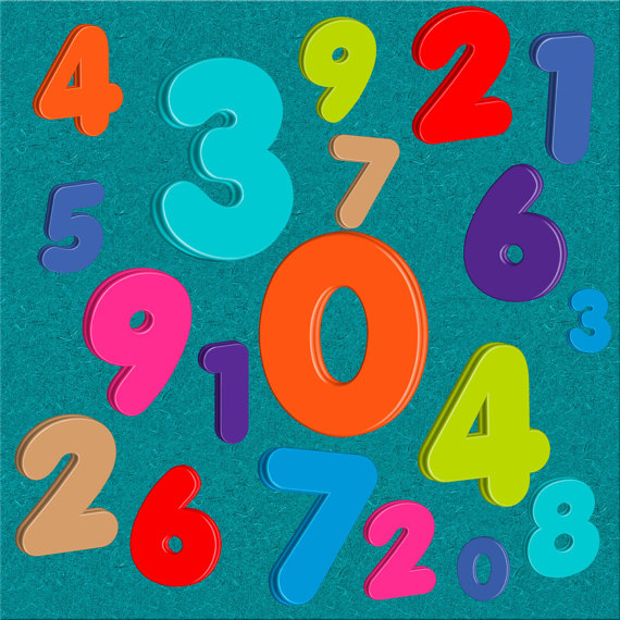 Custom homemade numbers set. 100 clipart transparent background