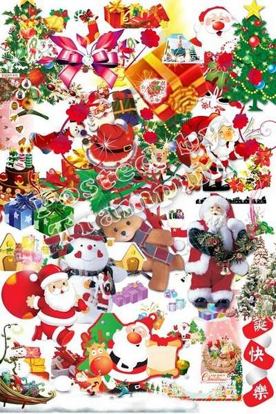 Christmas psd elements on. 100 clipart transparent background