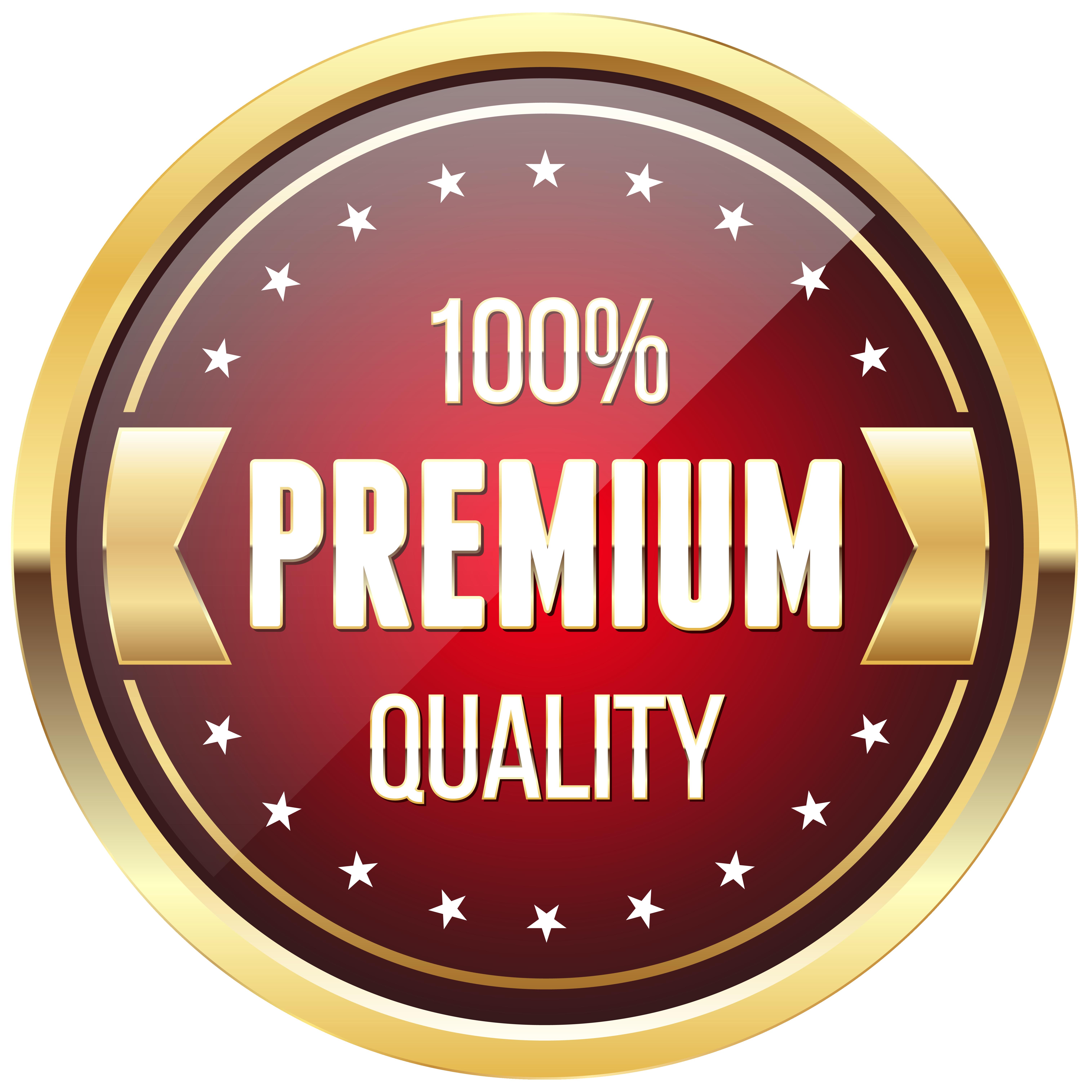 premium quality badge. 100 clipart transparent background