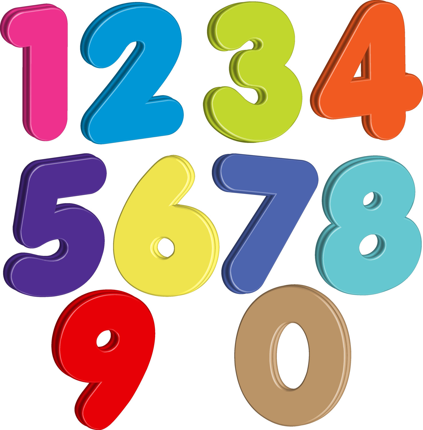 100 clipart transparent background. Custom homemade numbers set