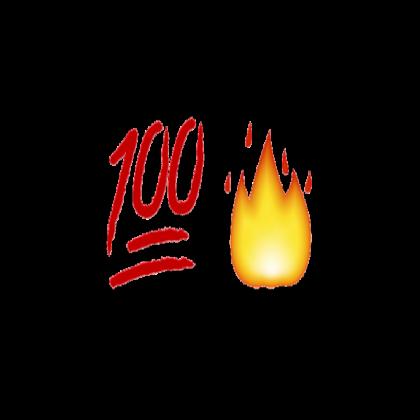 100 clipart transparent emoji.  and fire roblox