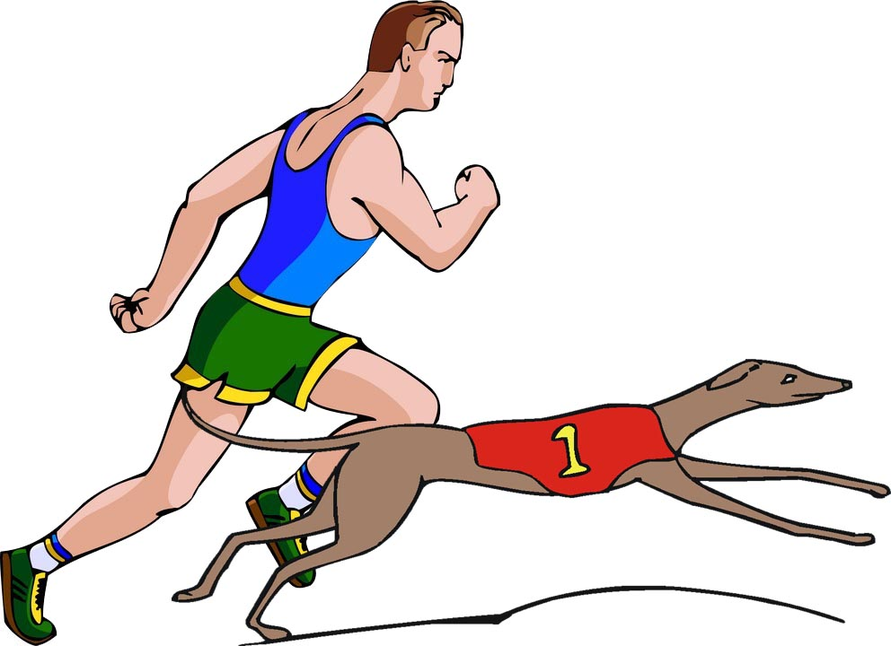 100 clipart yard dash. Dogs versus humans in