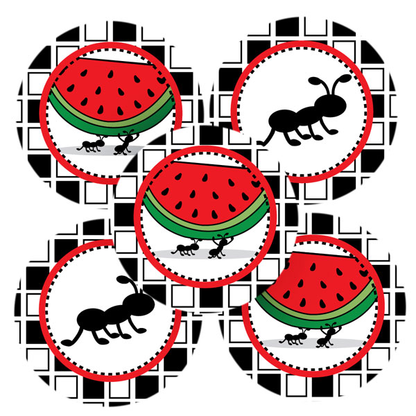 ants picnic panda. Ant clipart family