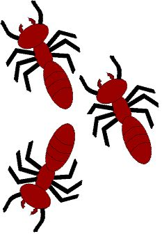 Cute red cartoon illustration. 2 clipart ant