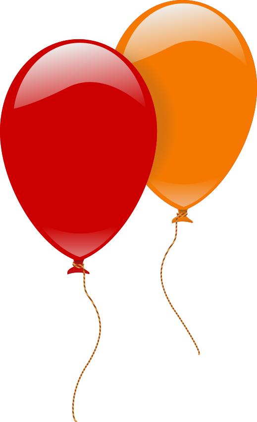 2 clipart balloon.  large shiney balloons