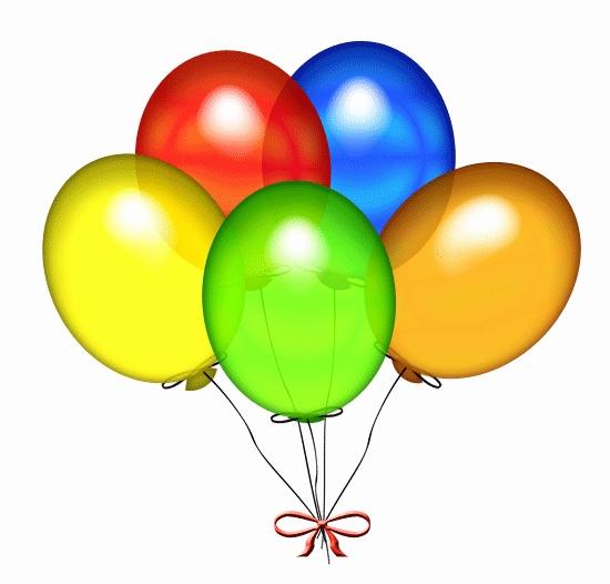 2 clipart balloon. Clip art new birthday