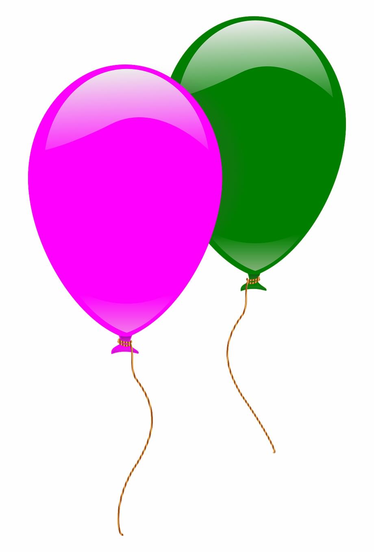 2 clipart balloon. Balloons pink green flying