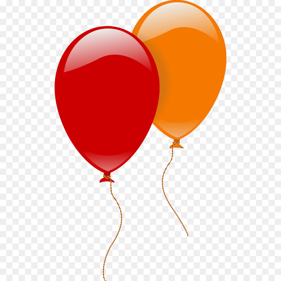 2 clipart balloon. Birthday party background red