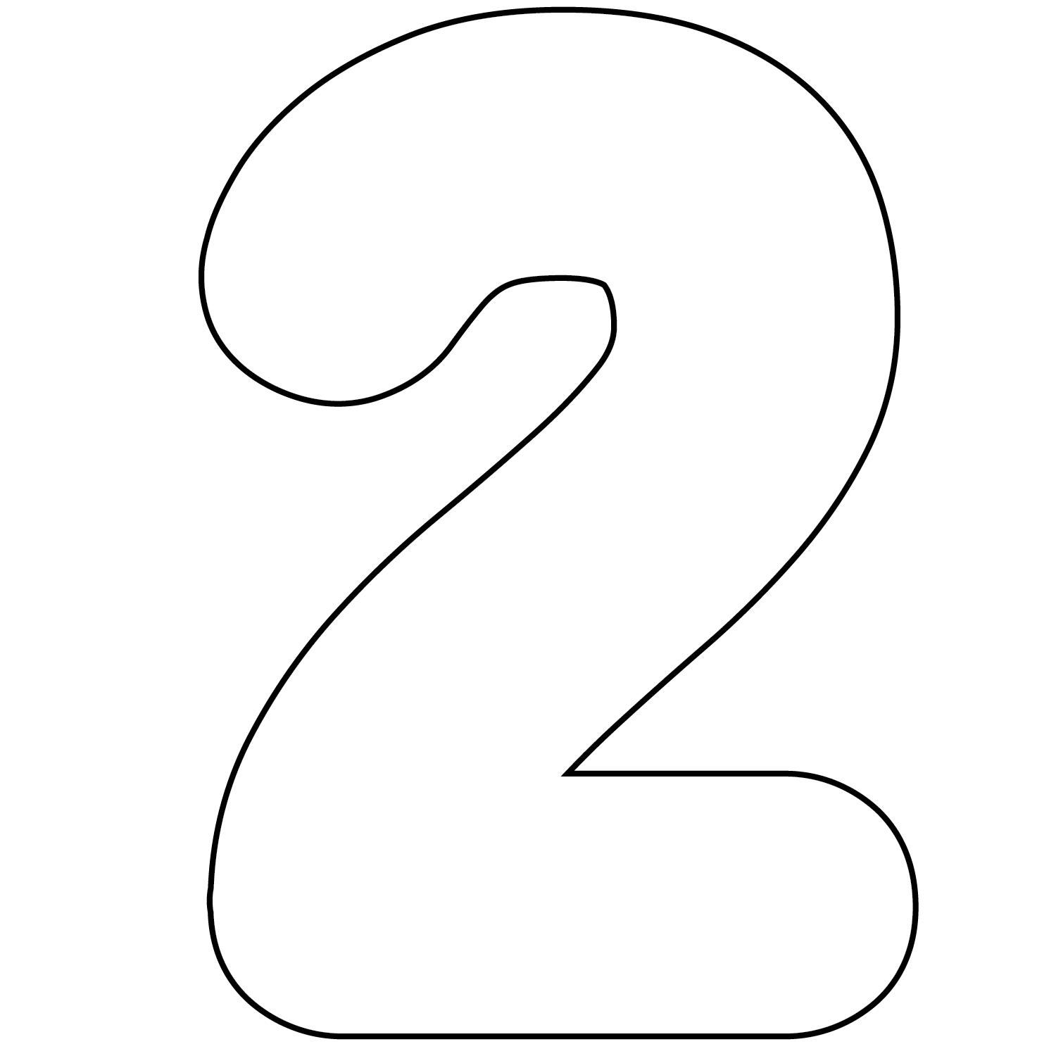 collection of number. 2 clipart black and white
