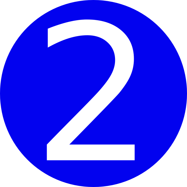 Rounded with clip art. 2 clipart blue number 2