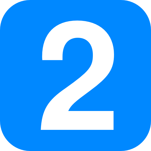 2 clipart blue number 2. Two clip art at