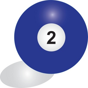 Pool ball image solid. 2 clipart blue number 2