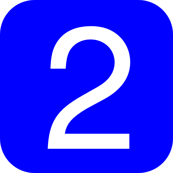 2 clipart blue number 2. Rounded square with clip