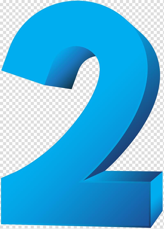 2 clipart blue number 2. Illustration two transparent