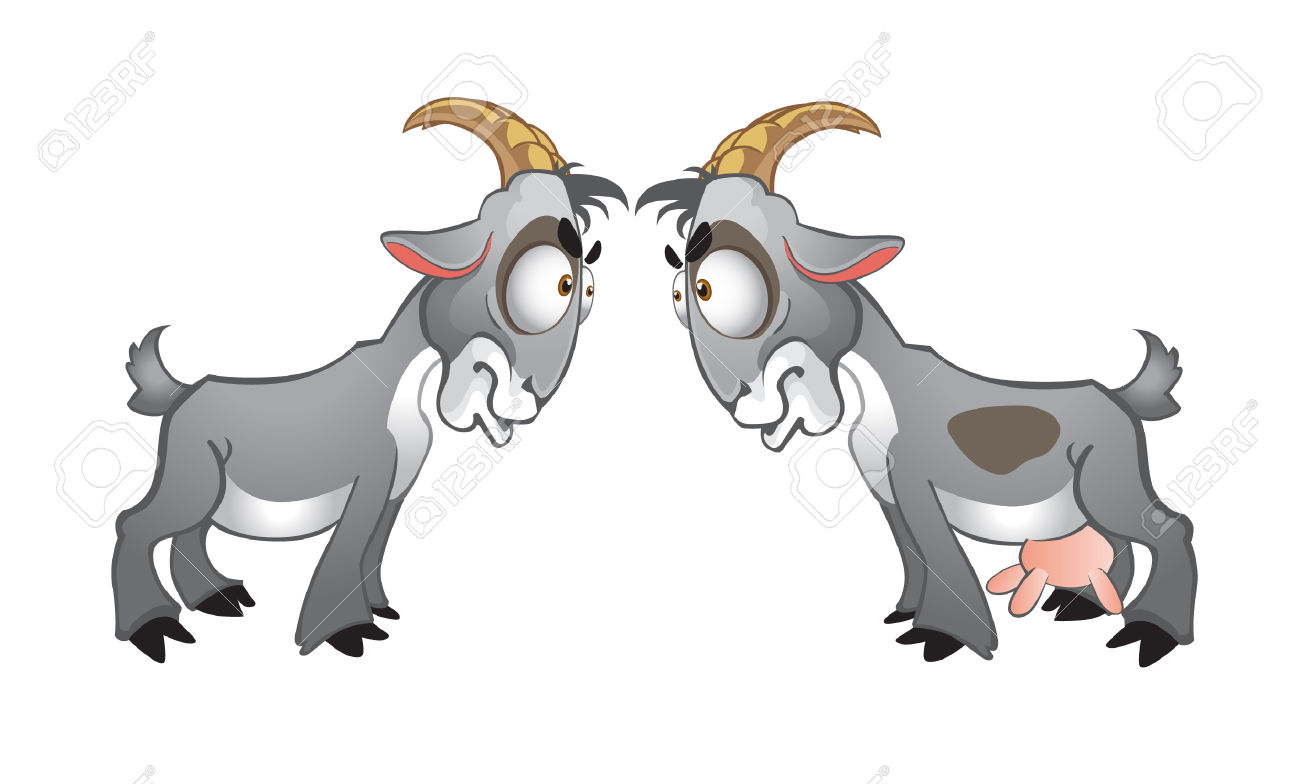 Billy goat two free. 2 clipart cartoon