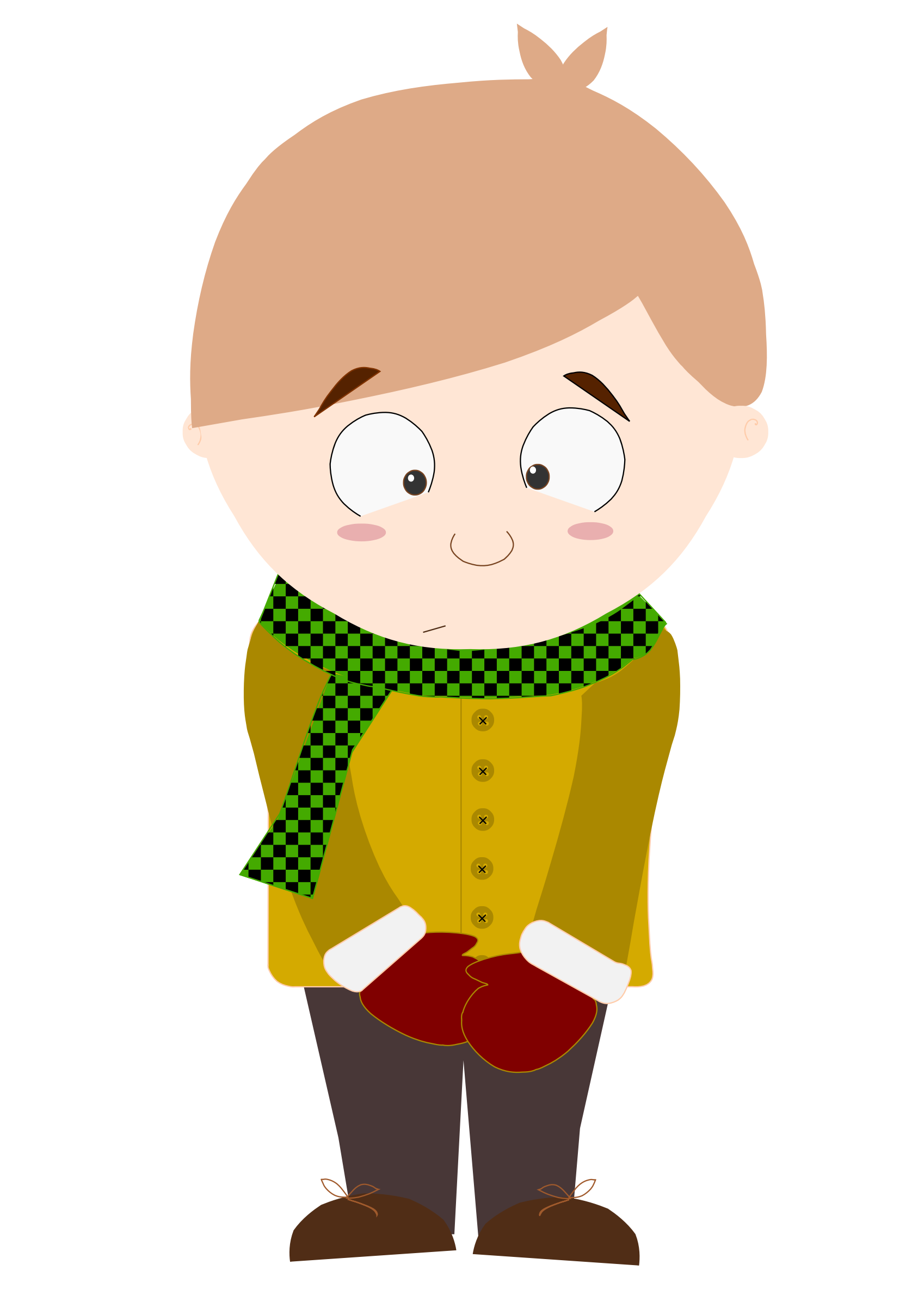 2 clipart cartoon. Shy kid animation big