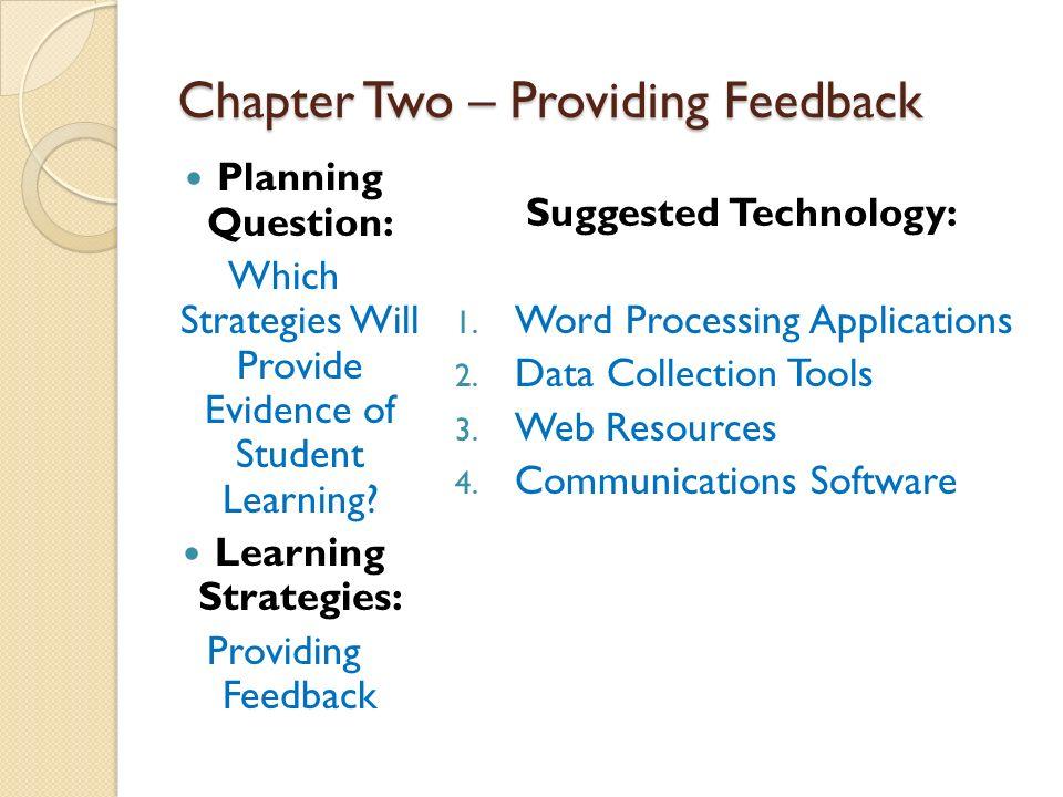 Edu week providing feedback. 2 clipart chapter
