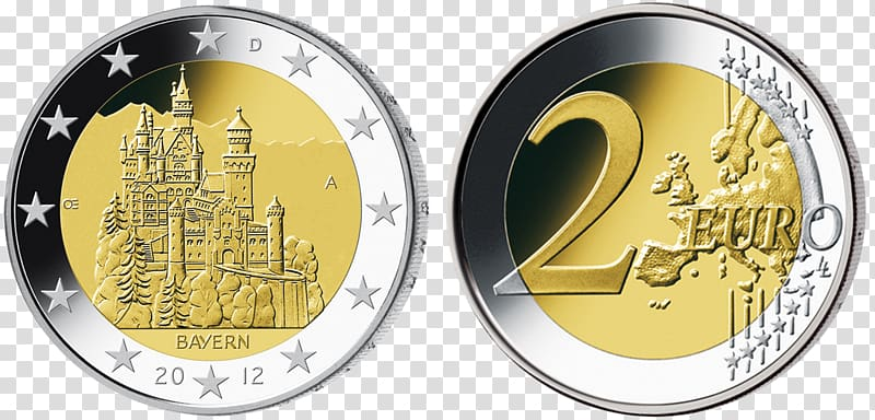 2 clipart coin.  euro germany coins
