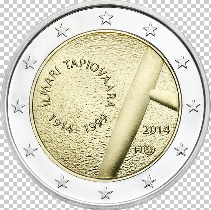 Finland euro commemorative coins. 2 clipart coin