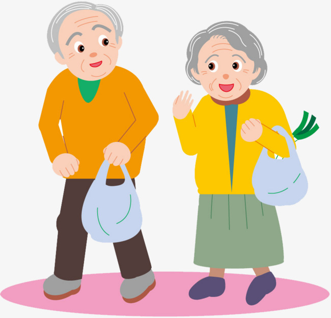 2 clipart couple. Elderly people happy png