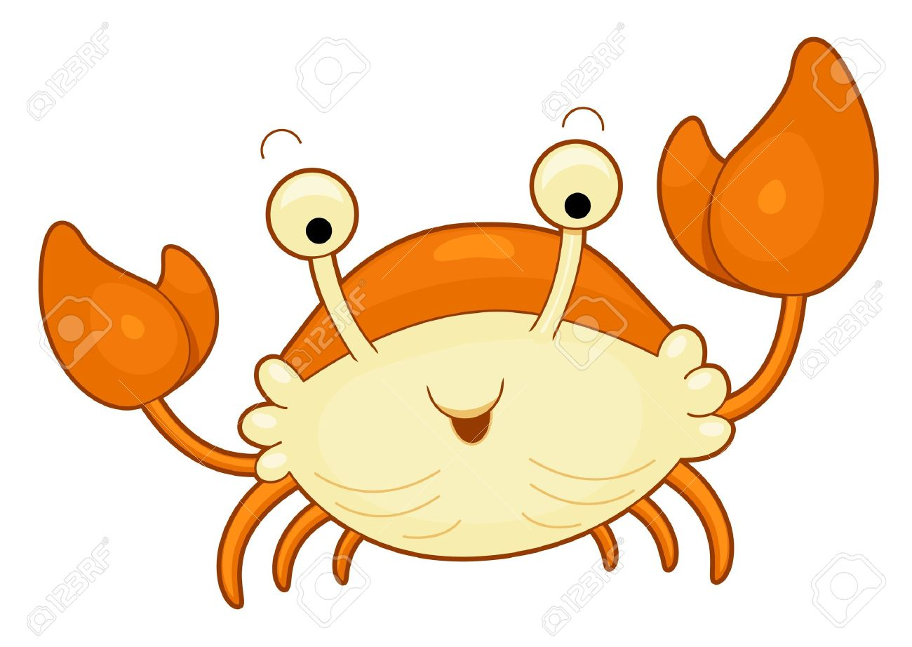 Cute hermit station . 2 clipart crab