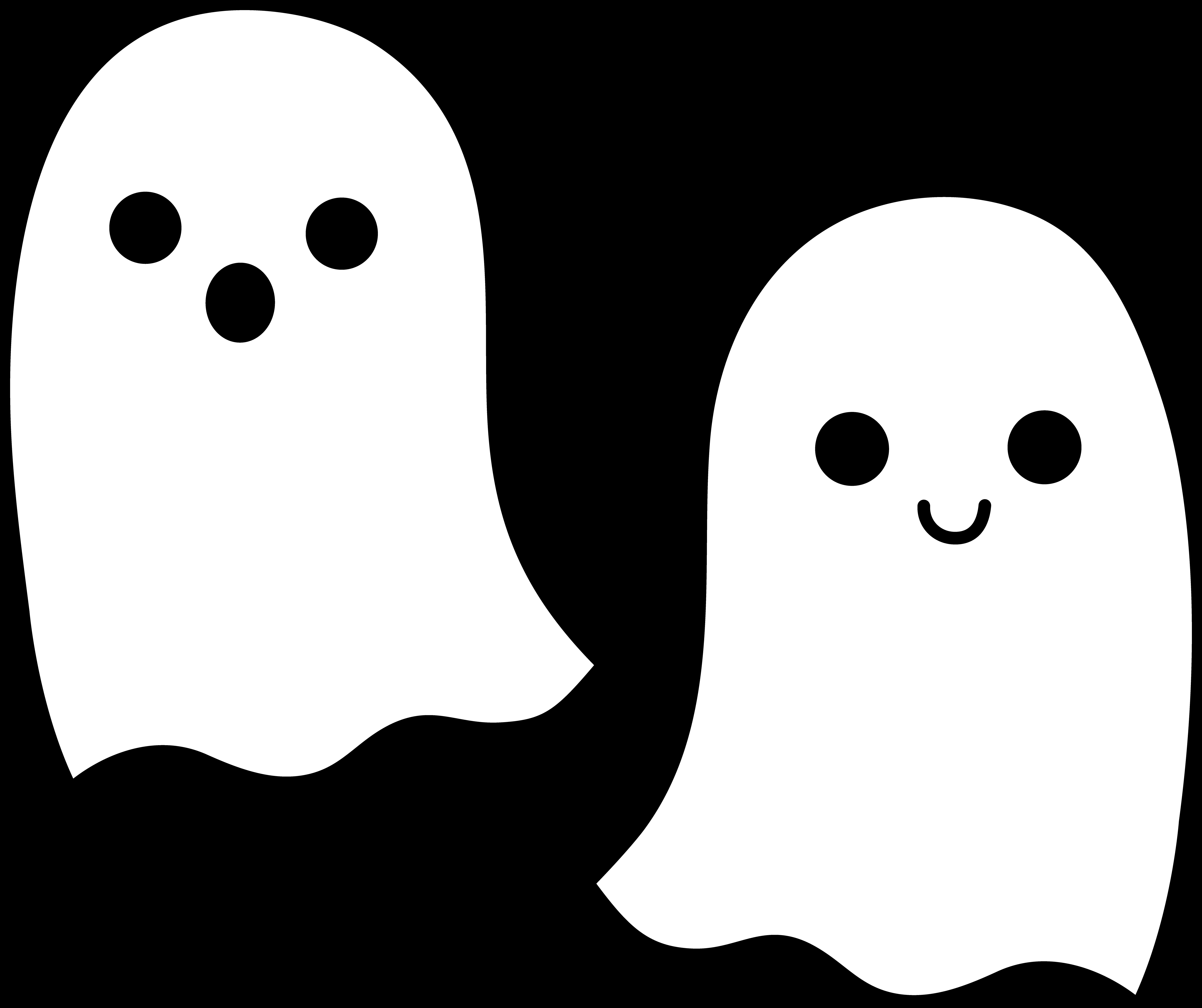 2 clipart cute. Awesome ghost gallery digital