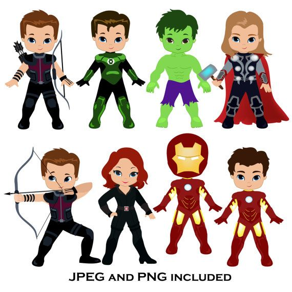 superhero digital superheroes. Action clipart cute
