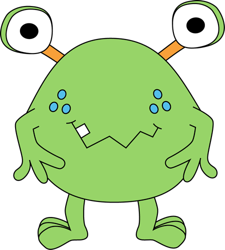 Free cute monster clip. Animals clipart alien