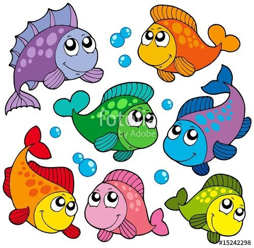 2 clipart cute. Various fishes collection famous