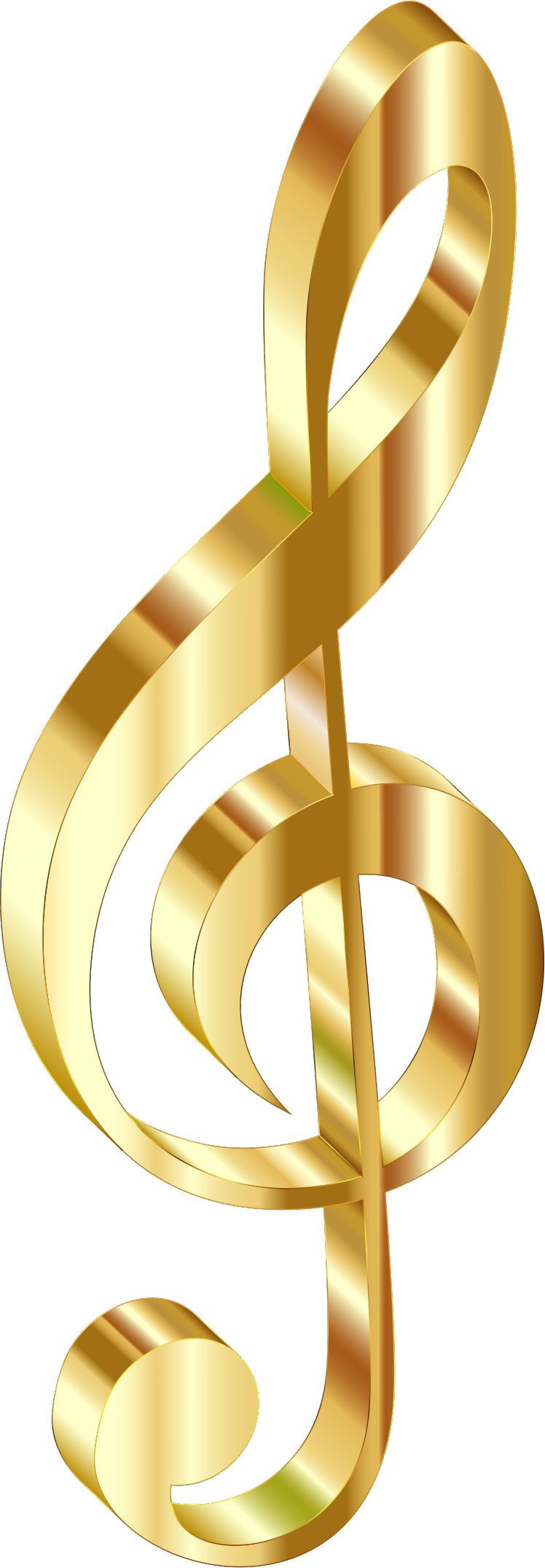 2 clipart gold. D clef no background