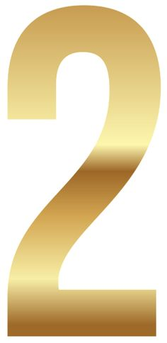 2 clipart gold. Golden number one png