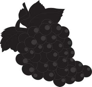 2 clipart grape. Silhouette at getdrawings com