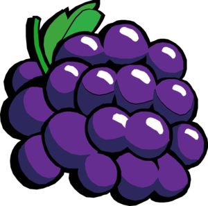 Retro grapes clip art. 2 clipart grape