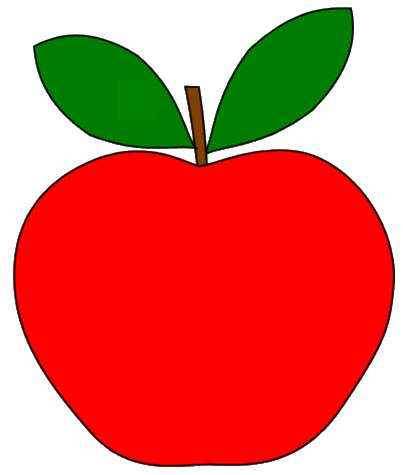 2 clipart leaf. Red apple with leaves