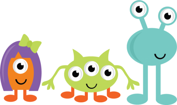 2 clipart monsters. Halloween clip art photo