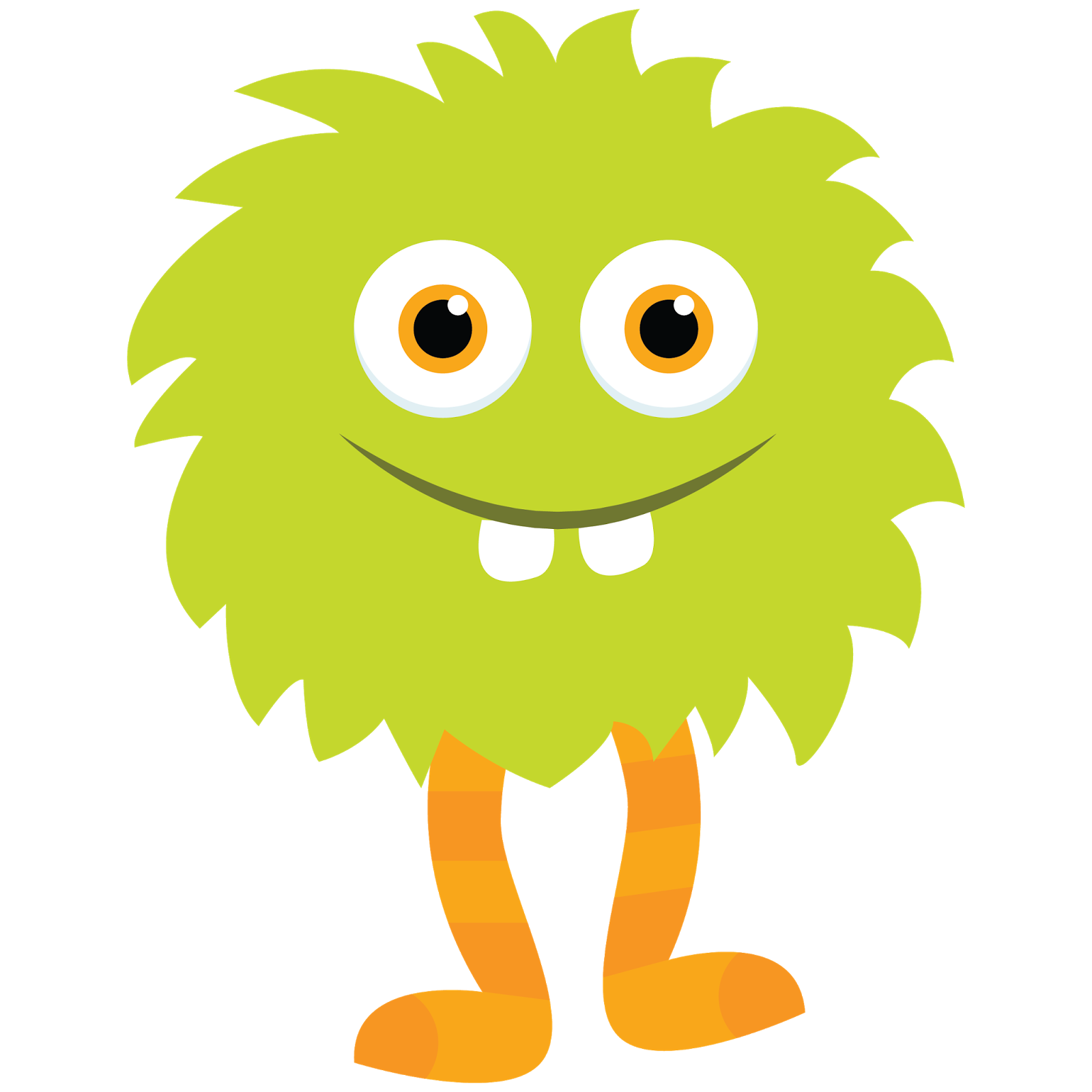 Friendly clipart monsters. Little monster green by